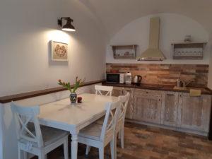 Fecskefészek apartman konyhája